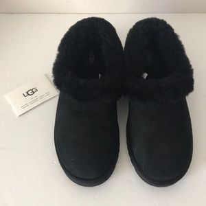 Ugg Black Nita Slippers.  Size 9.